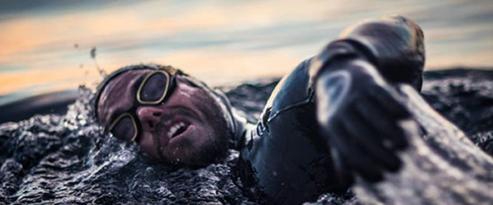 Edgley set a new world swim record 74 days