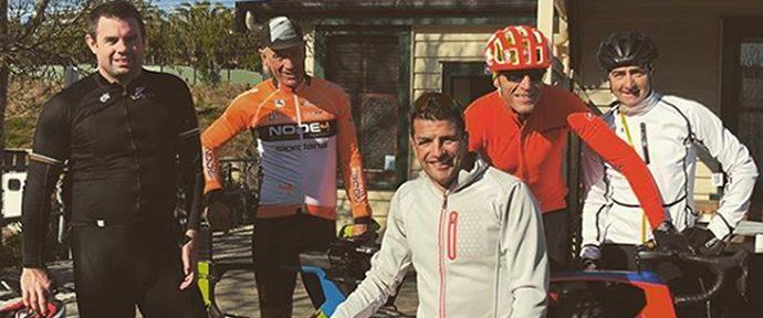 Bozzone back on his bike
