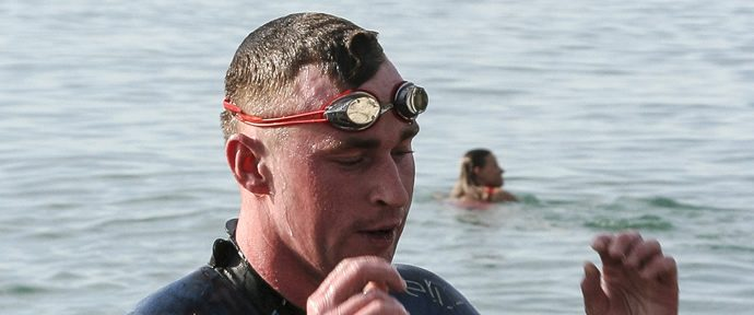 Port Nelson Sea Swim Luke Kelly and Sierra Thomas first home