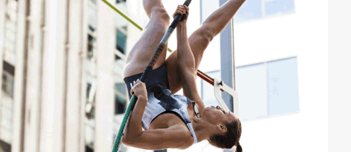 Pole Vaulters Soar on Federal Street for Vertical Pursuit