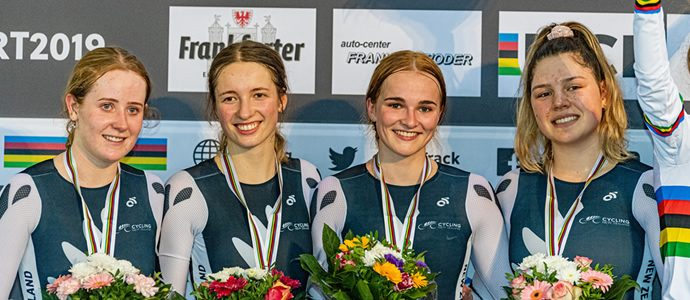 Kiwi team pursuit riders settle for silver in remarkable final