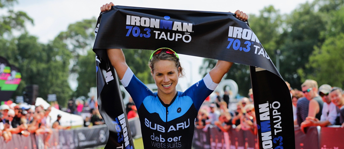 IRONMAN 70.3 Taupō was won by Wells & Smith