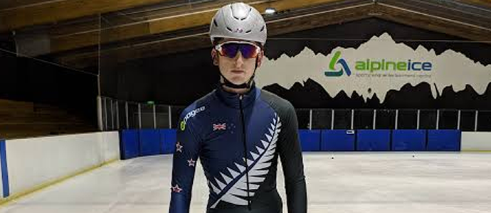 7th place for speed skater Ethan De Rose at Winter Youth Olympic Games