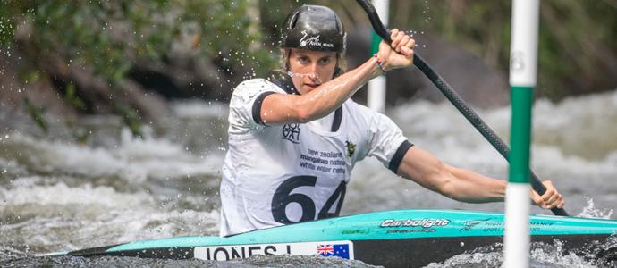 Luuka Jones double win at the New Zealand Canoe Slalom Open