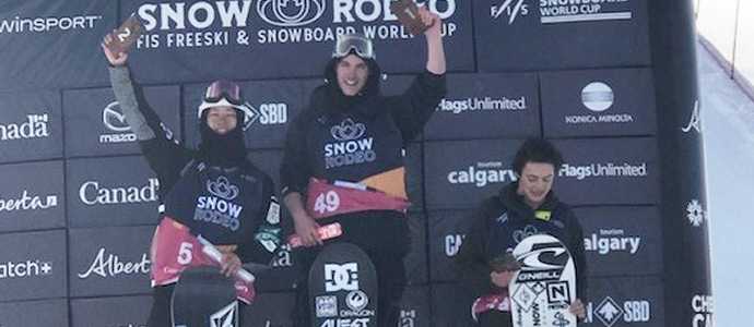 NZ Snowboarder - Tiarn Collins Claims World Cup Victory
